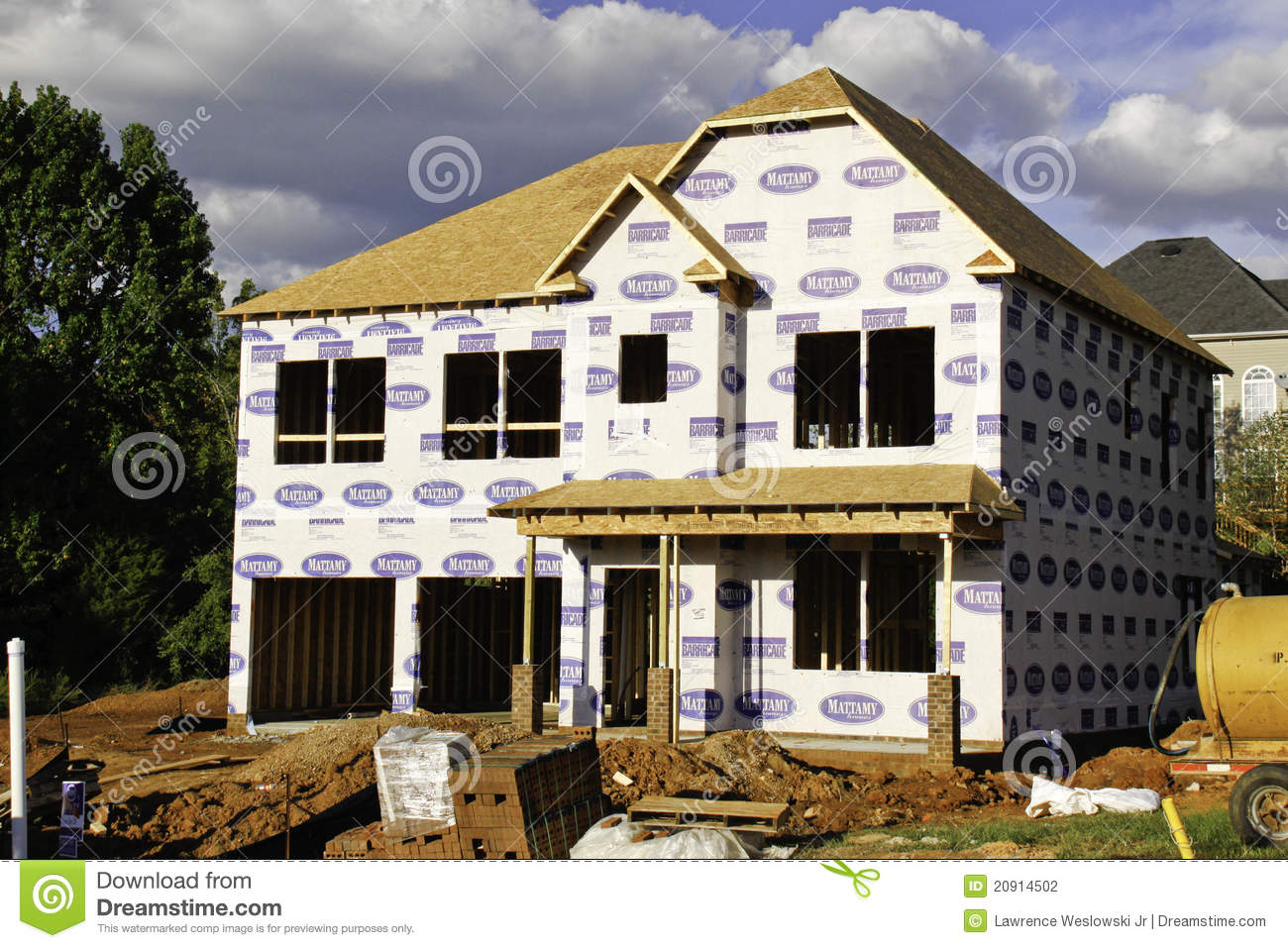 New home construction site editorial photography image for Home construction websites