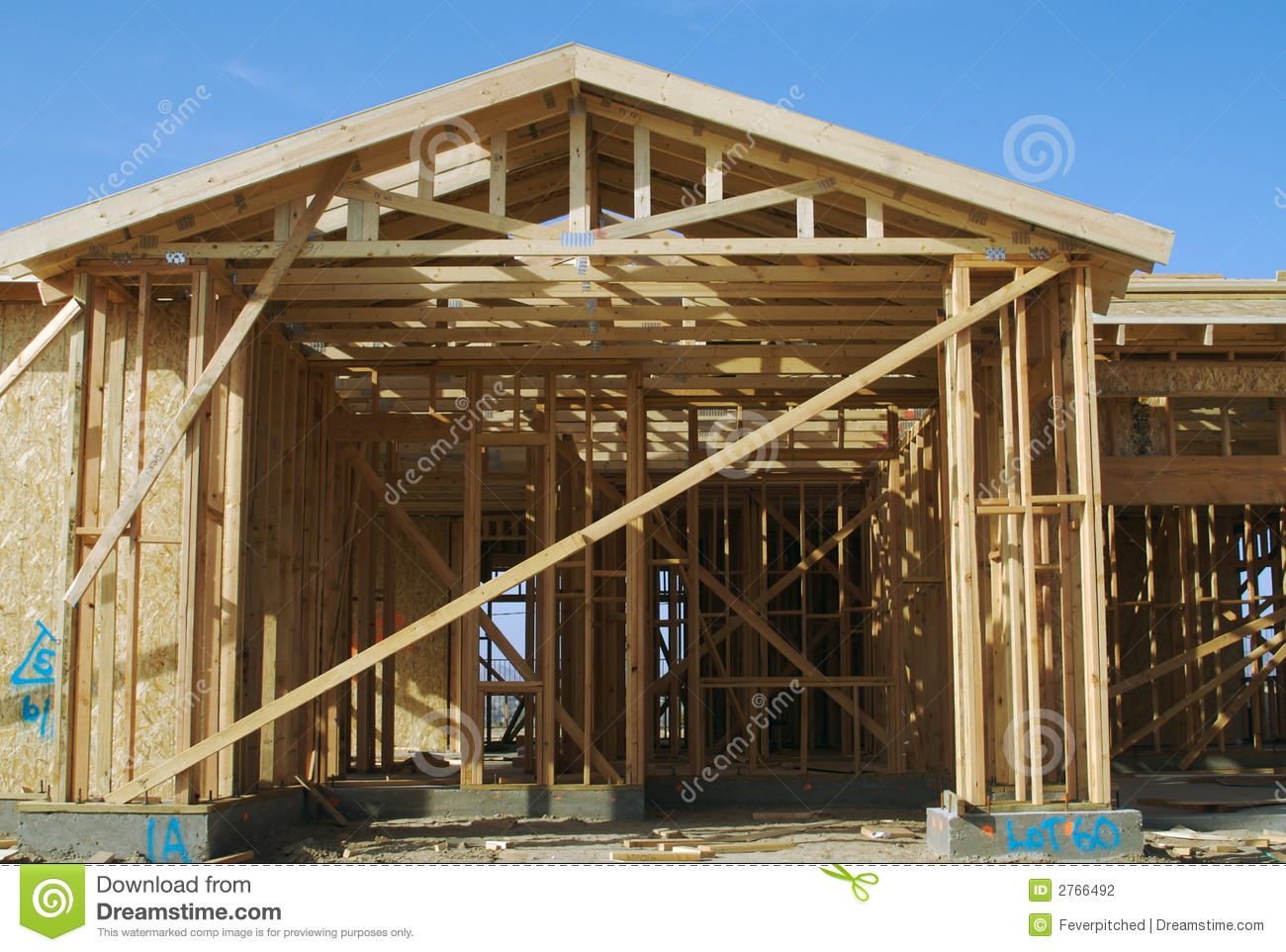 New home construction site stock photography image 2766492 for Home construction websites