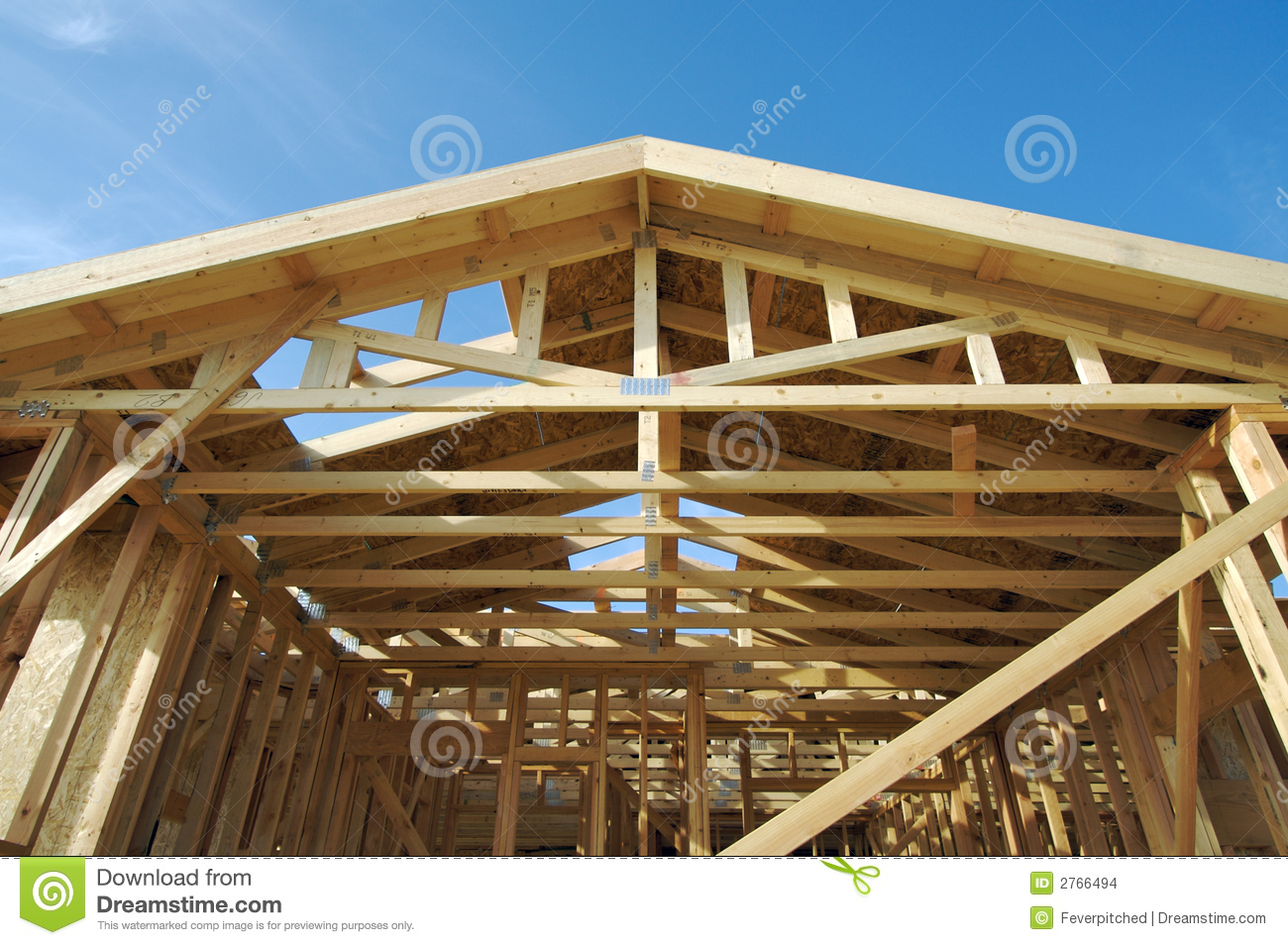 New home construction site stock images image 2766494 for New home structure