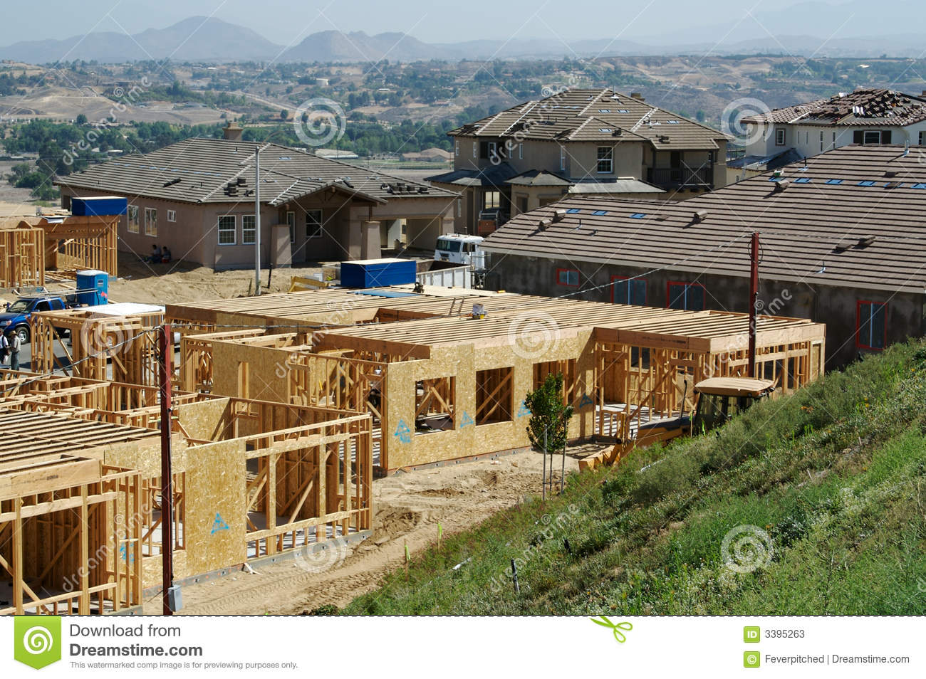 New home construction site stock photos image 3395263 for New home structure