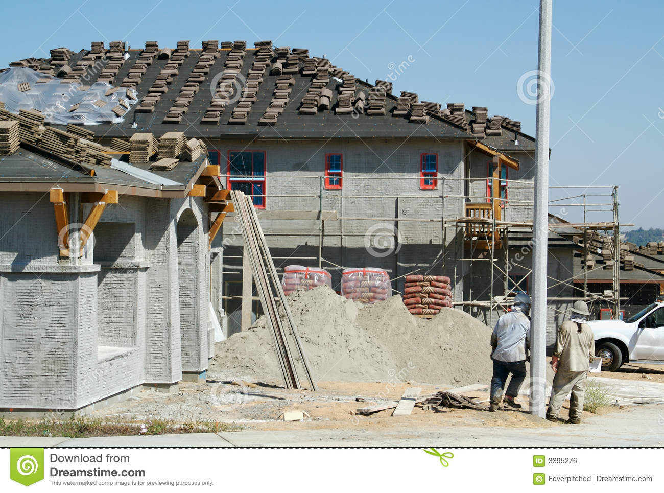 New home construction site royalty free stock image for Home construction websites