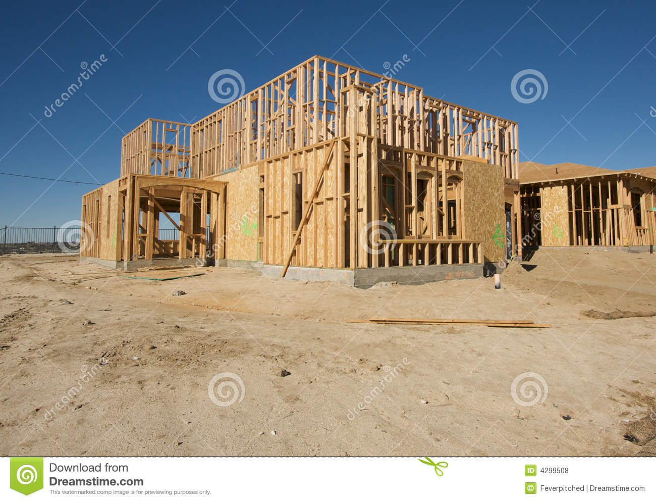 New Home Construction Site Royalty Free Stock Photos