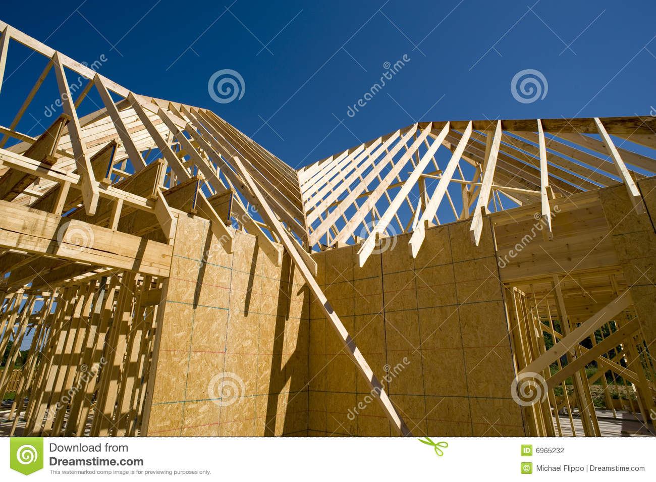 New home construction site stock photography image 6965232 for Home construction websites