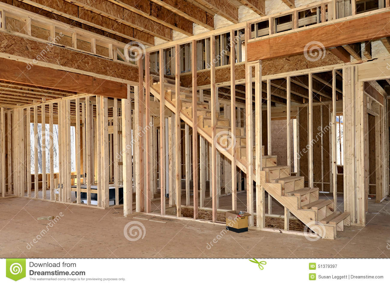 New Home Construction Interior Stock Image Image Of Code