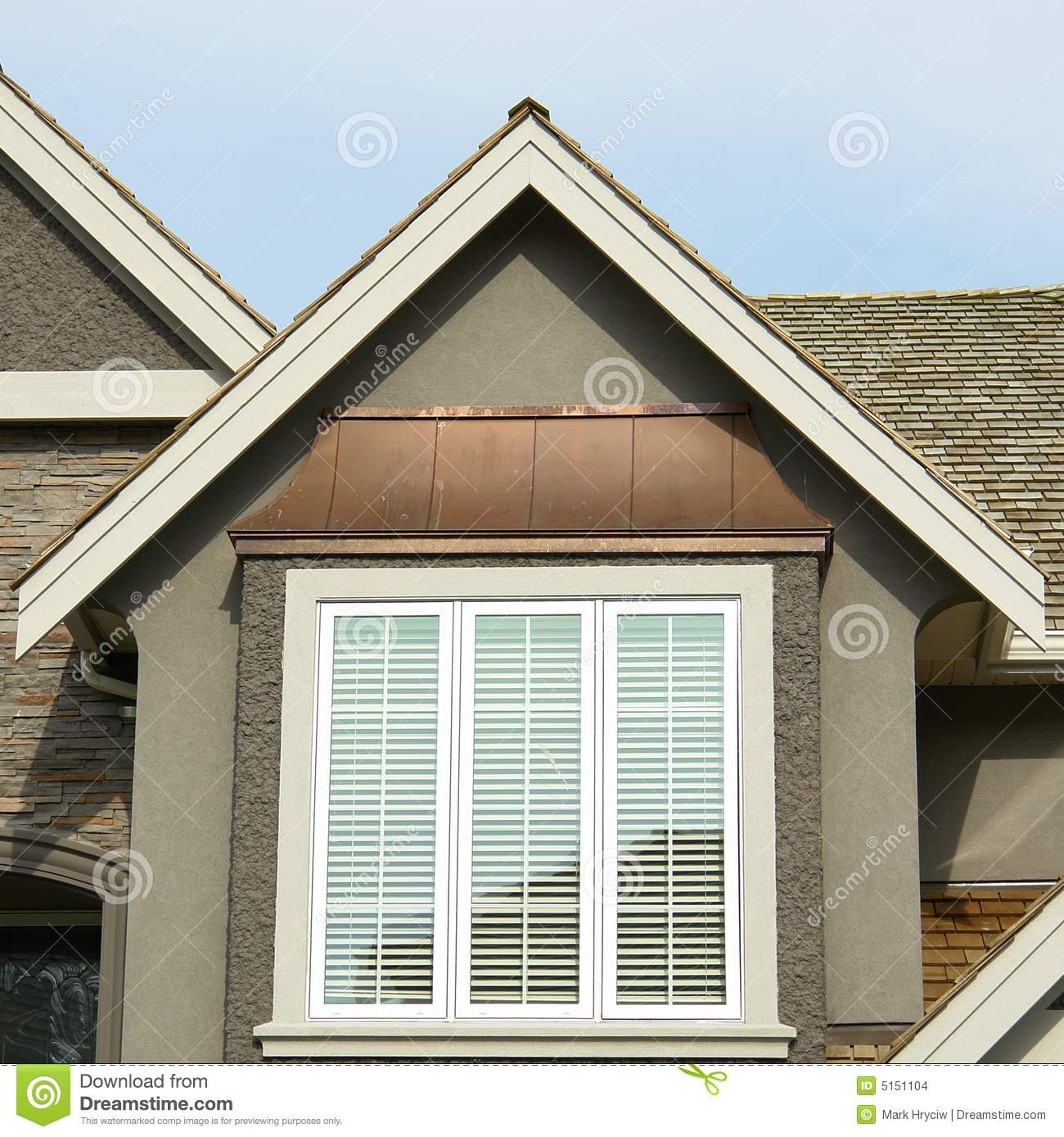 New Home Exterior Roof Peak Stock Images Image 5151104