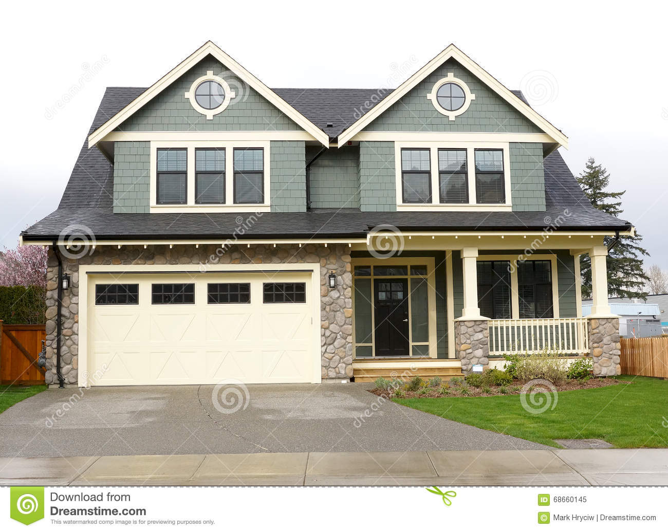 New home exterior yellow siding royalty free stock photo for Sustainable siding