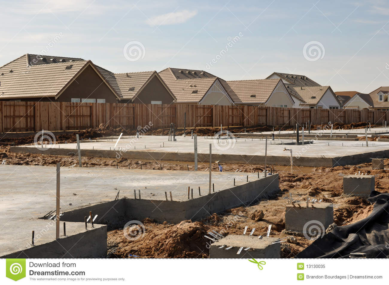 New home foundation royalty free stock photo image 13130035 for New home foundation