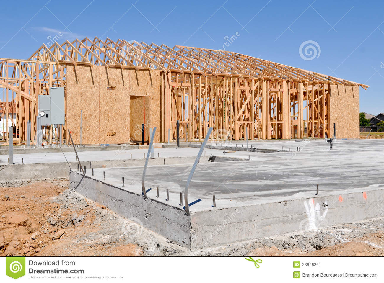 New home foundation stock image image of house construct for New home foundation