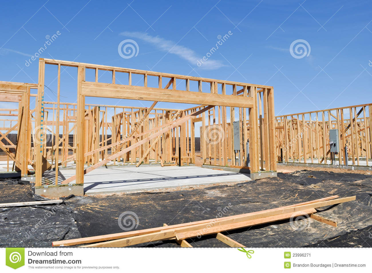 new home foundation stock image image 23996271