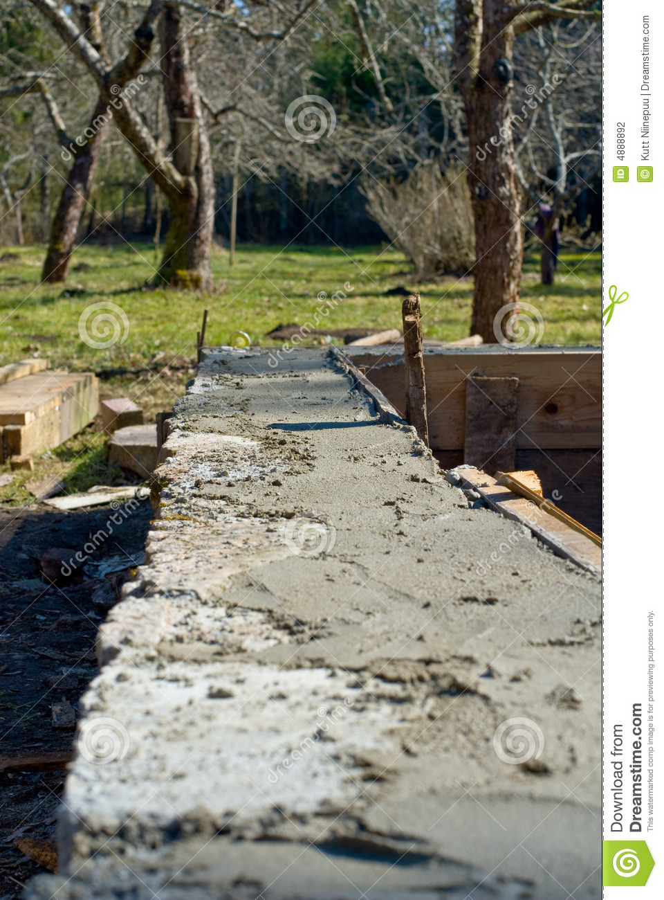 new home foundation stock photography image 4888892