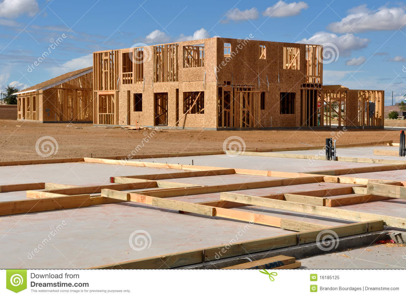New home foundation foreground royalty free stock photo for New home foundation