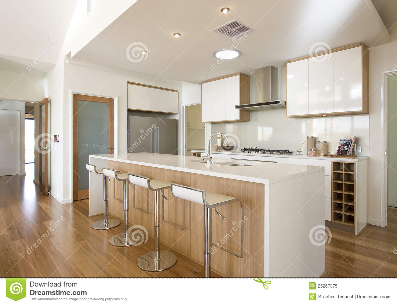 New Home Galley Kitchen Royalty Free Stock Photo Image