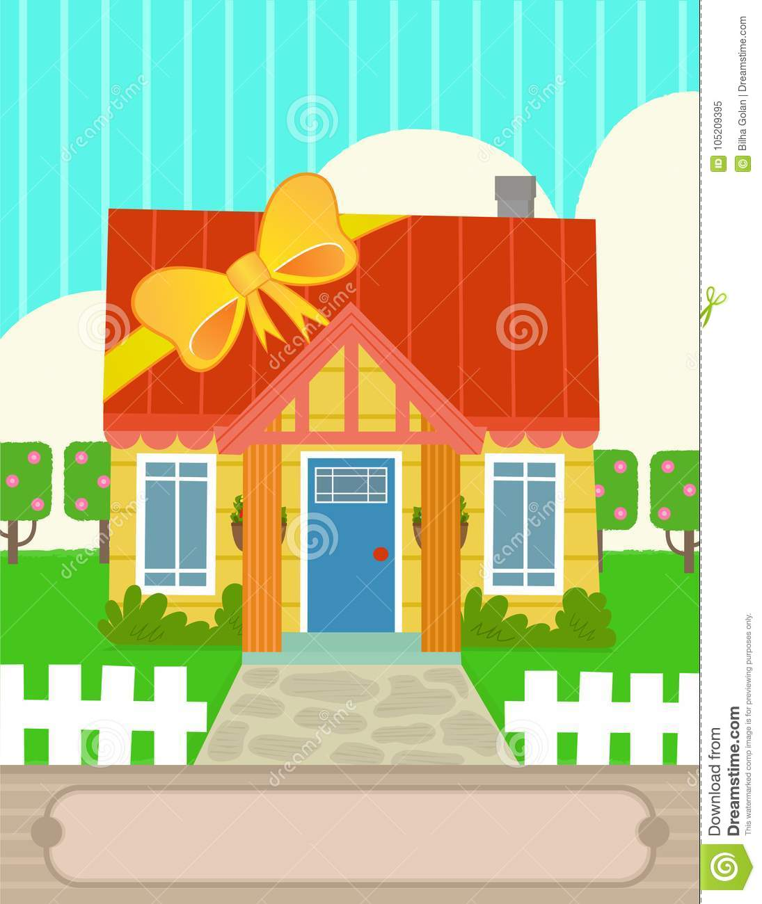 New home greeting card design stock vector illustration of grass new home greeting card design kristyandbryce Gallery