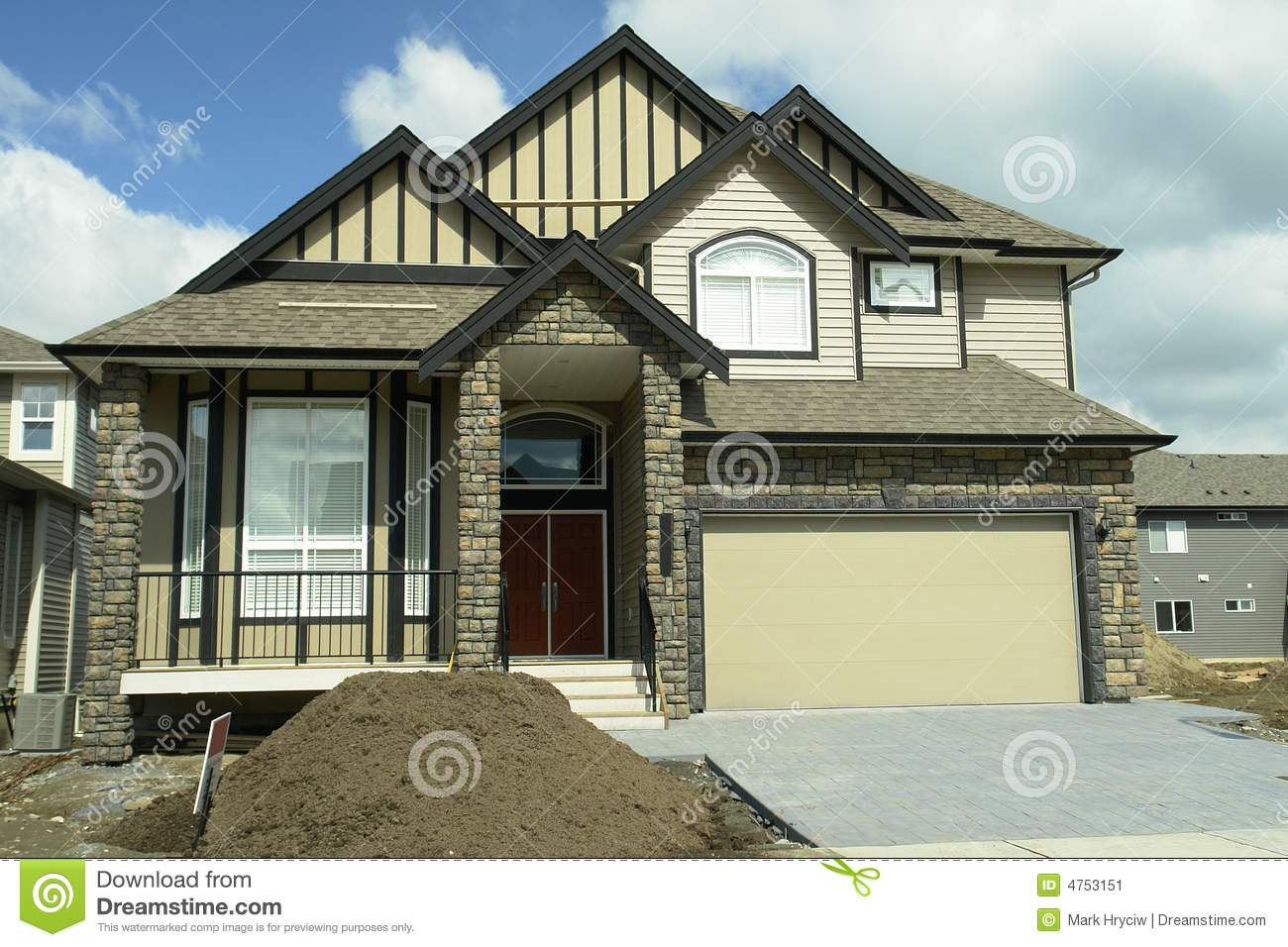 New home house bc canada stock image image 4753151 for New homes canada