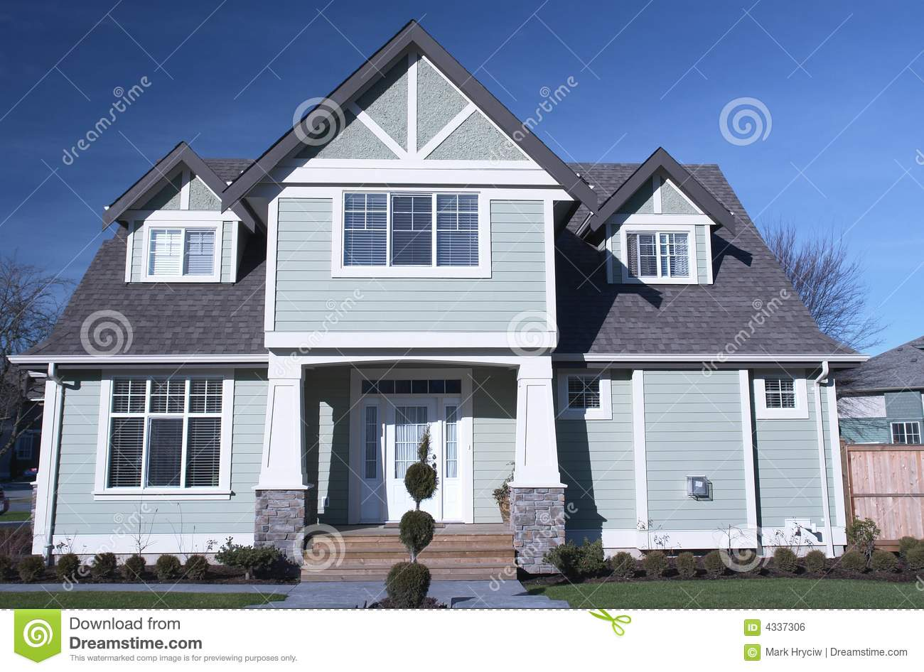 New home house exterior stock image for New homes canada