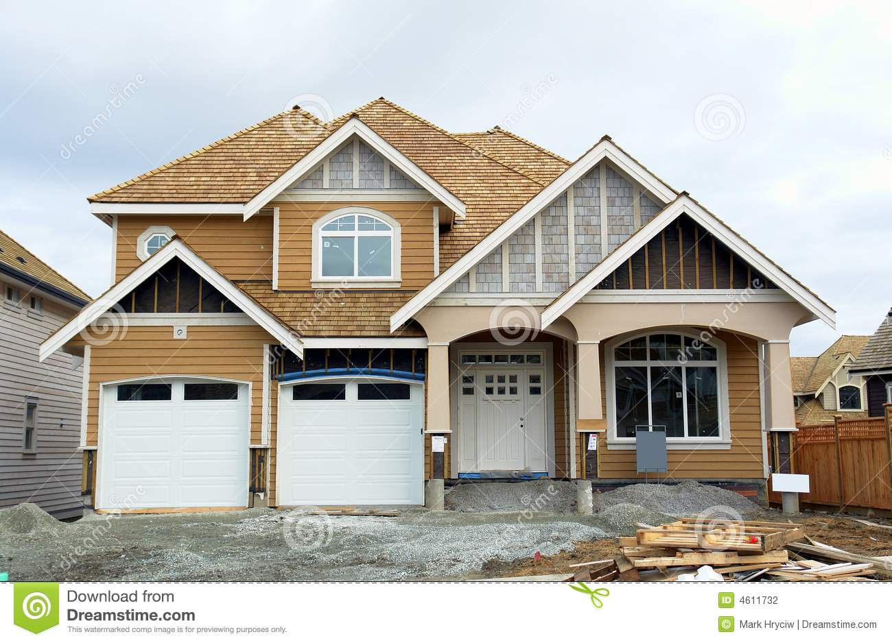 New home house construction stock photography image 4611732 for New home structure