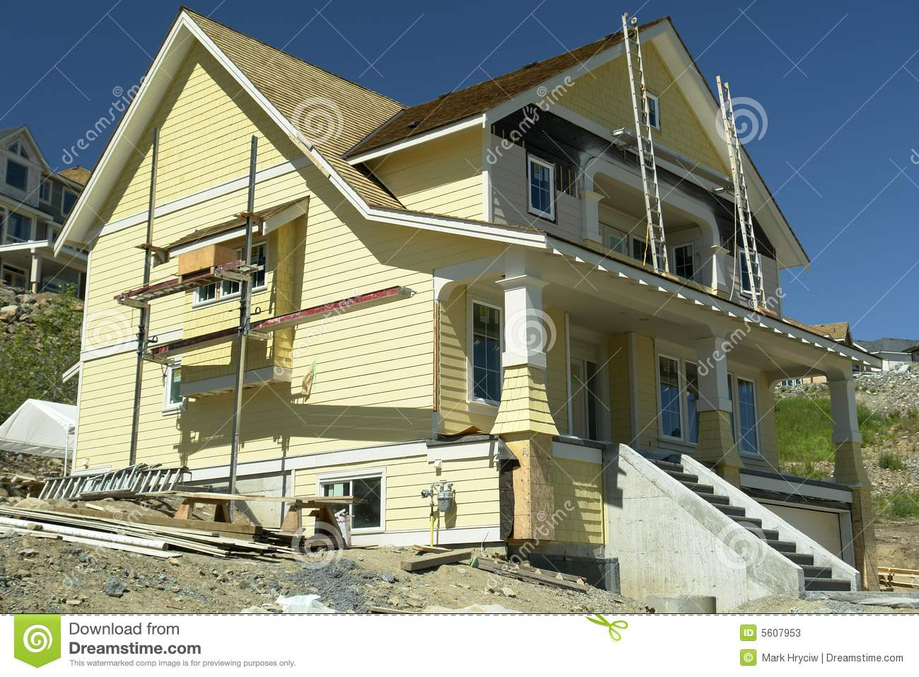 Home construction financing stock photography for Financing new home construction