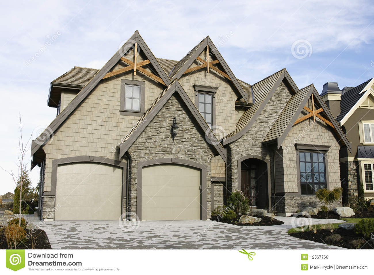 New home house exterior royalty free stock image image for Photos of new homes exteriors