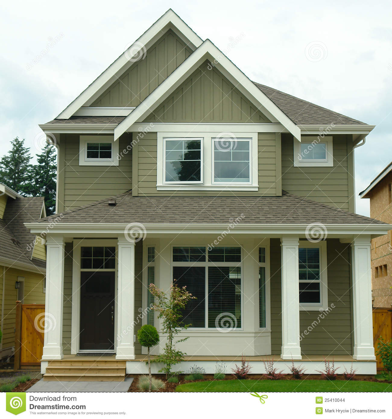New Home House Exterior Stock Photo Image Of Setting 25410044