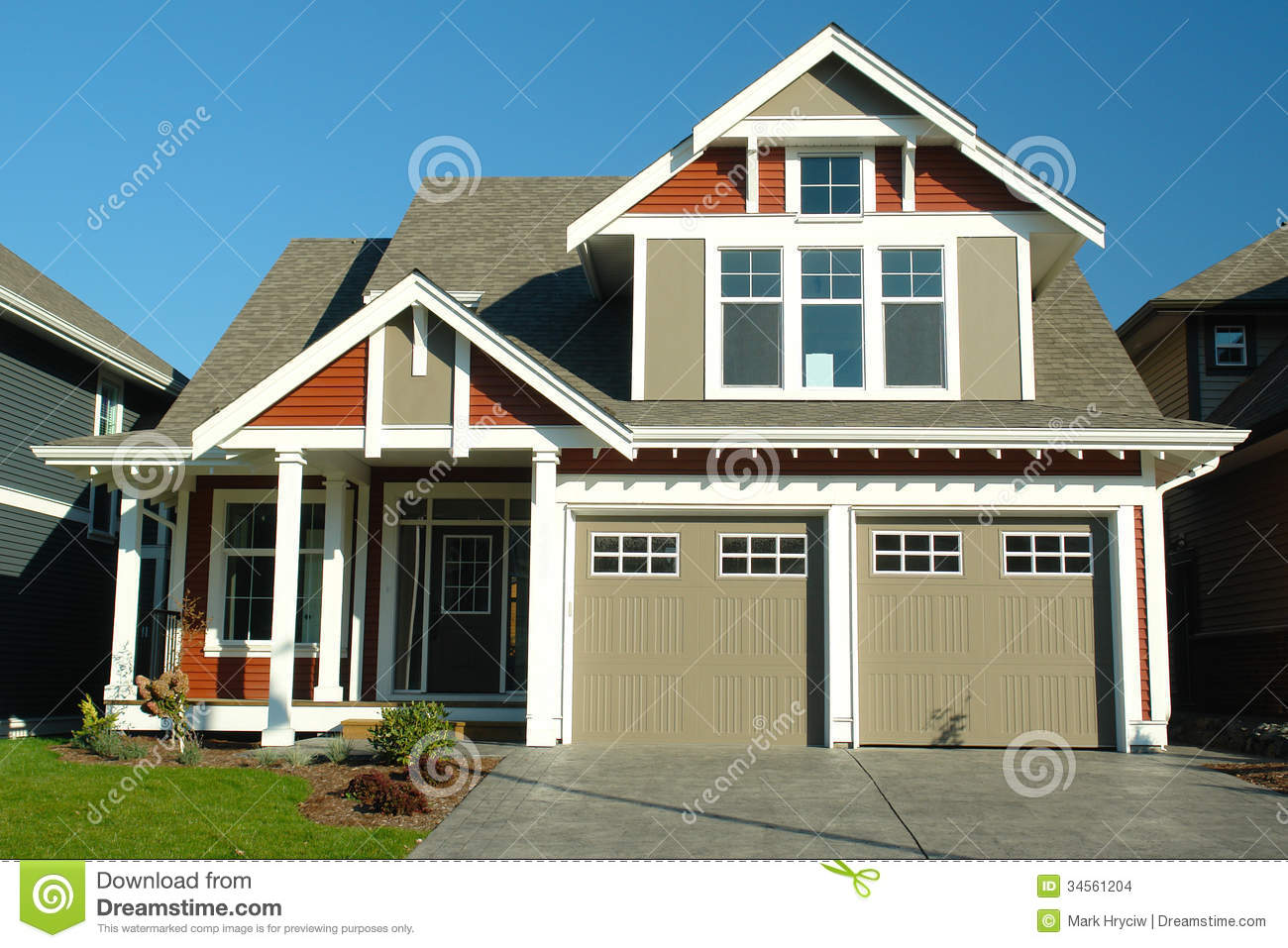 New home house exterior stock images image 34561204 for Exterior house images