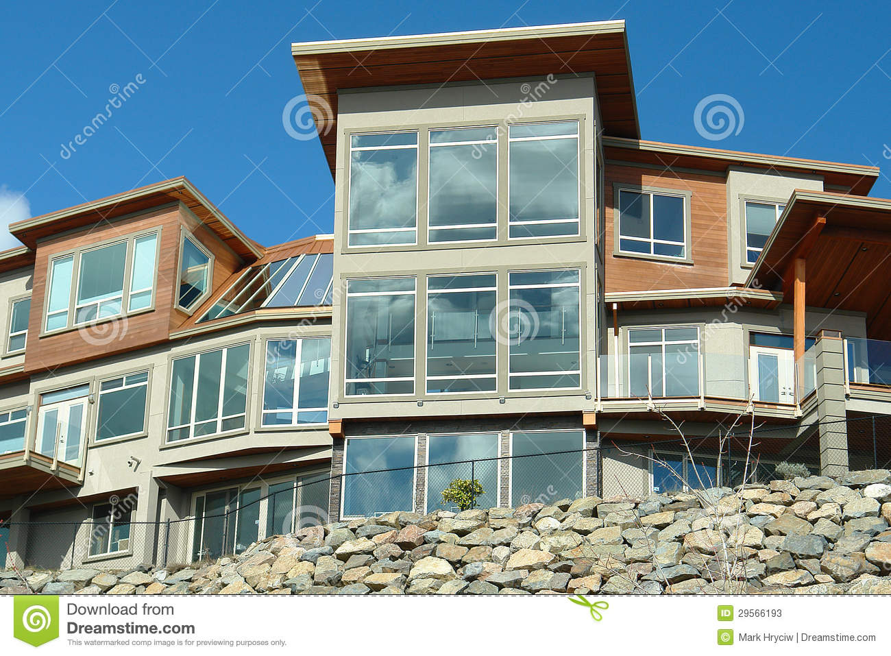 New home house exterior windows stock image image 29566193 for New home windows