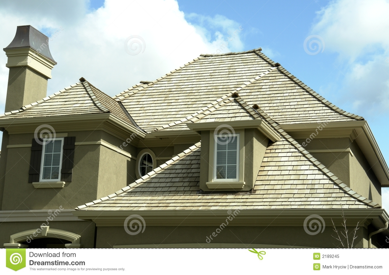 New Home House Roof Stock Image Image Of Residence