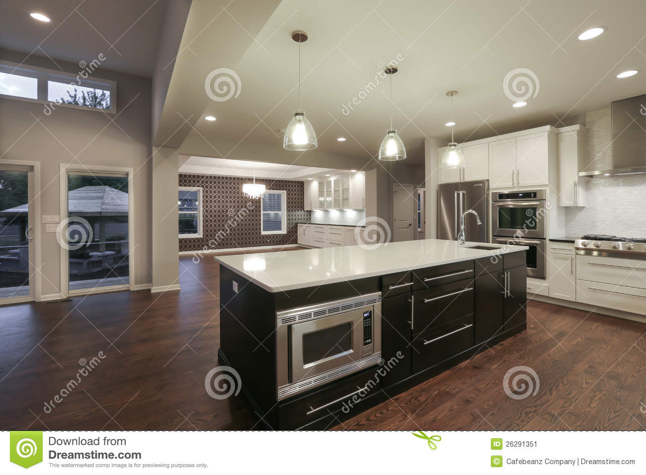 New home interior stock image image of home loft dark for Interior design pictures