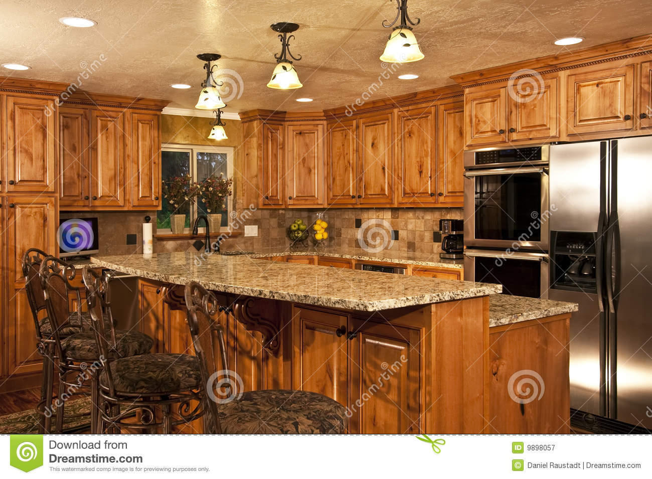 New Home Kitchen With Island Royalty Free Stock