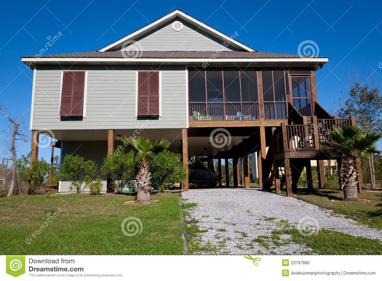 New Home Modern Elevated Home Stock Photo Image 23797880