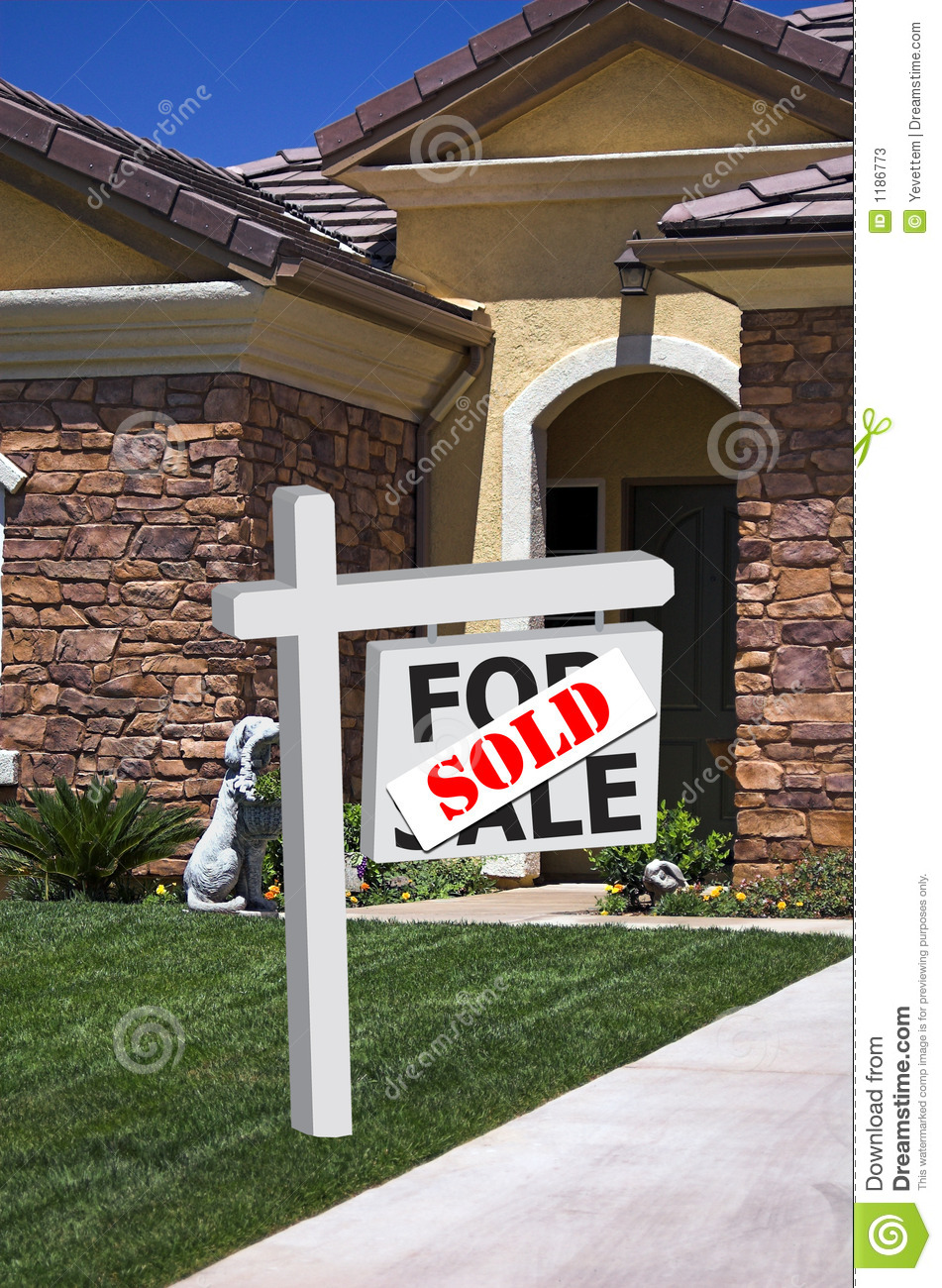 New home sold sign stock photos image 1186773 for New home sign