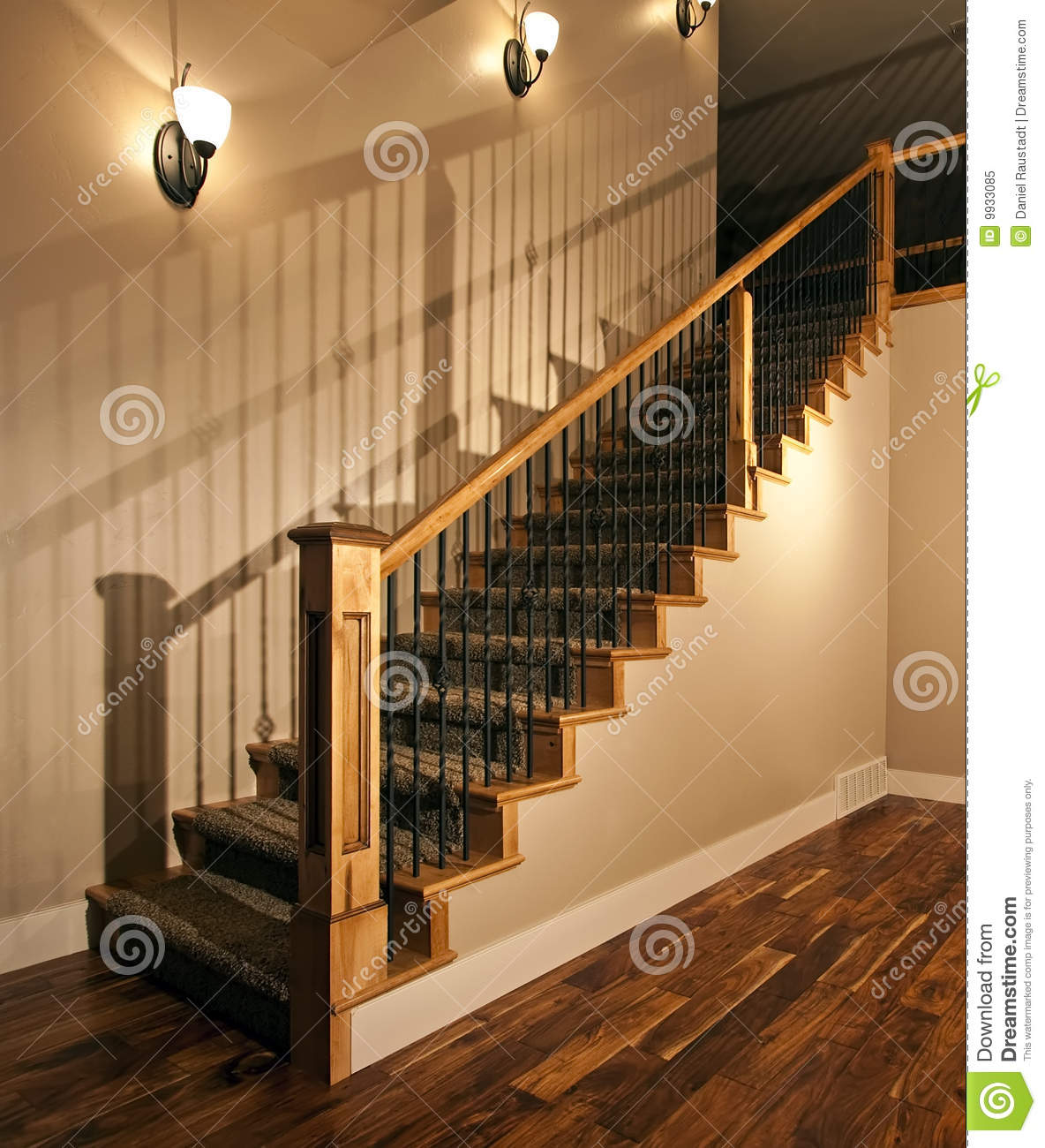 New Home Stairway Stock Image Image Of Carpet Balcony