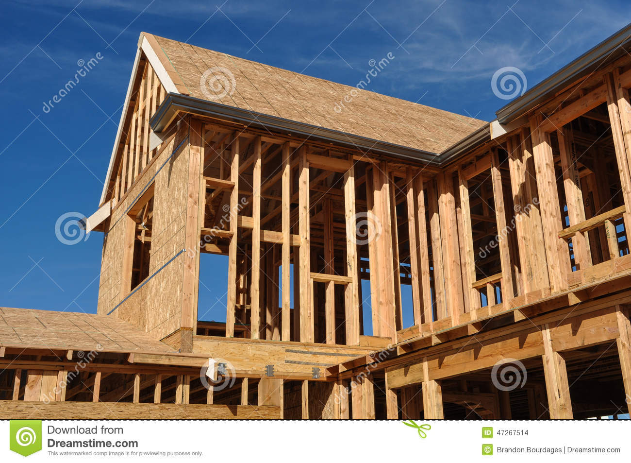 New Home Under Construction Stock Photo - Image: 47267514