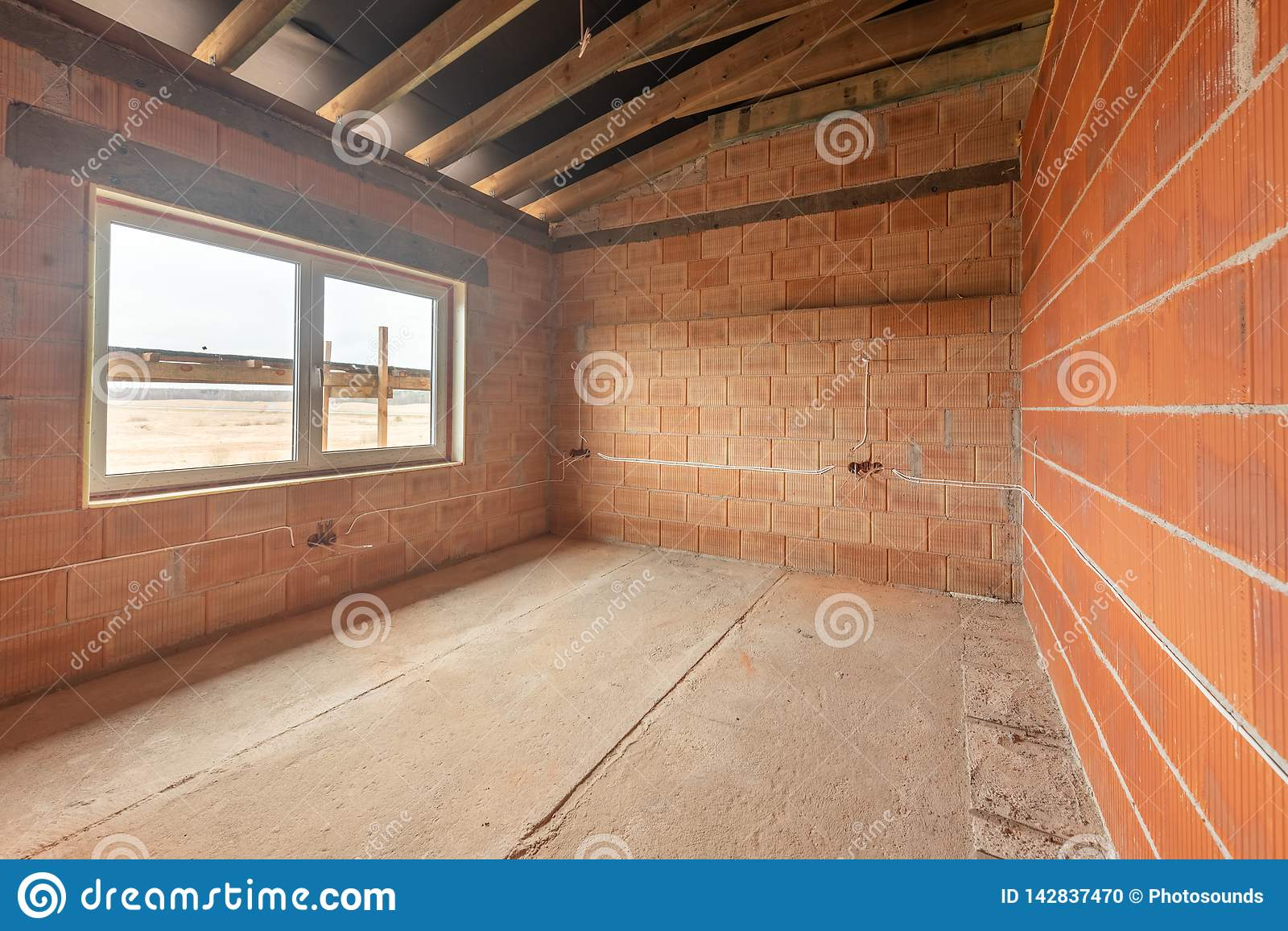 A New Home Under Construction Stock Photo - Image of frame ... Home Wiring Construction on
