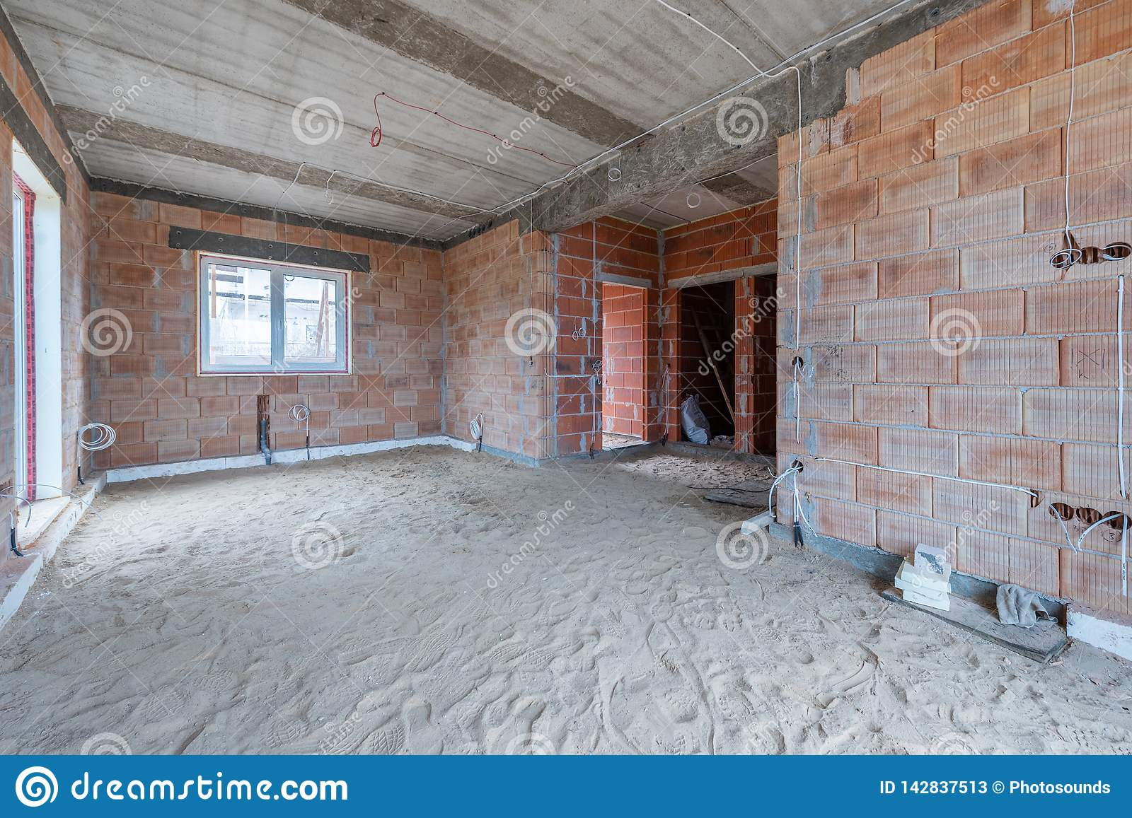 Brilliant A New Home Under Construction Stock Image Image Of Construction Wiring 101 Eumquscobadownsetwise Assnl