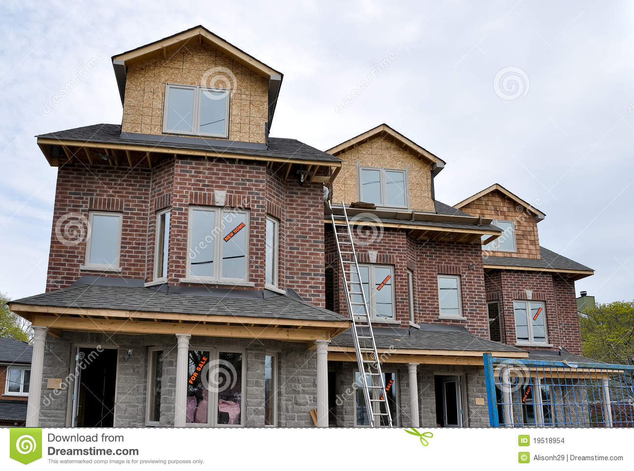 New Homes For Sale Stock Images Image 19518954