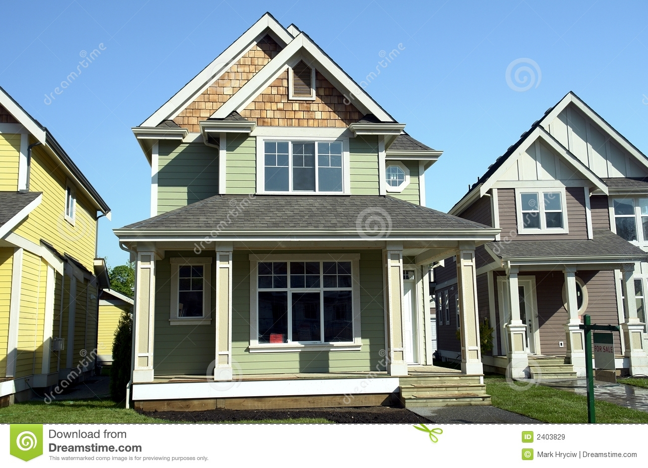 New homes for sale royalty free stock images image 2403829 for New homes for sale
