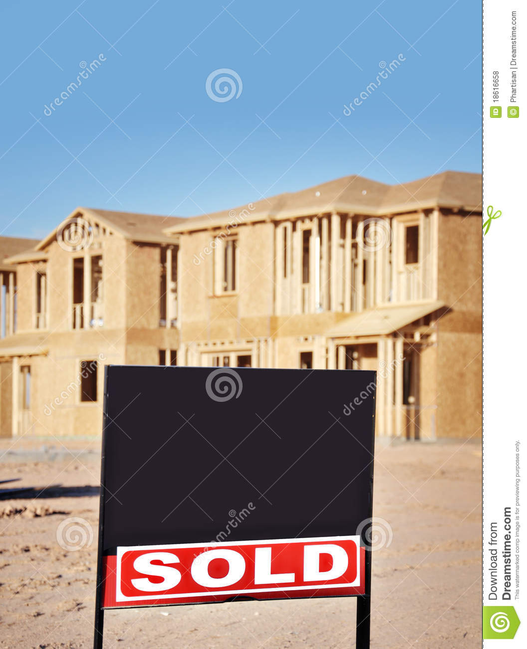 New homes with sold sign royalty free stock photos image for New home sign