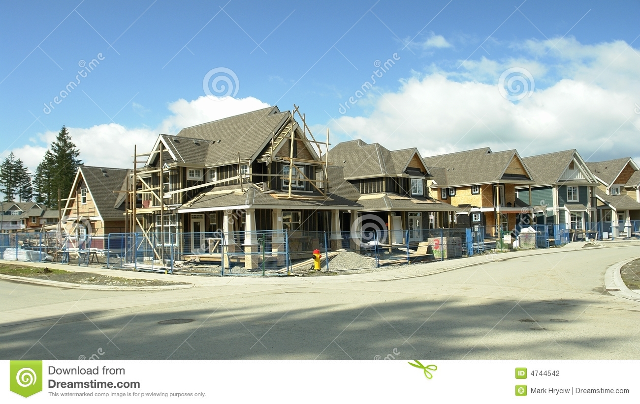 New Homes Subdivision Houses Stock Photography Image