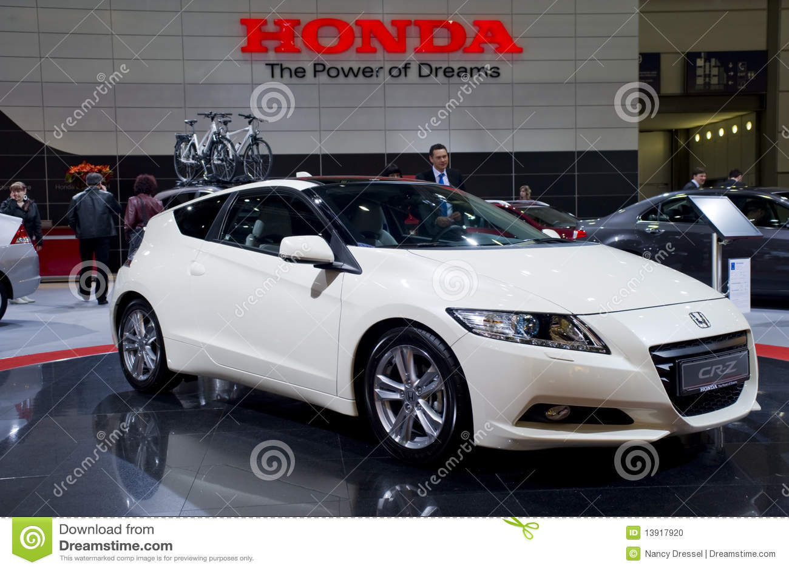 New Honda CR Z, Sports Car Stock Photo