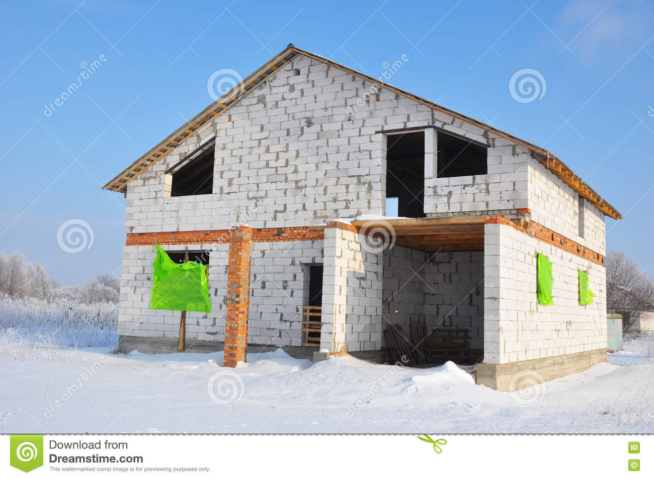 New house building from autoclaved aerated concrete blocks for House building website
