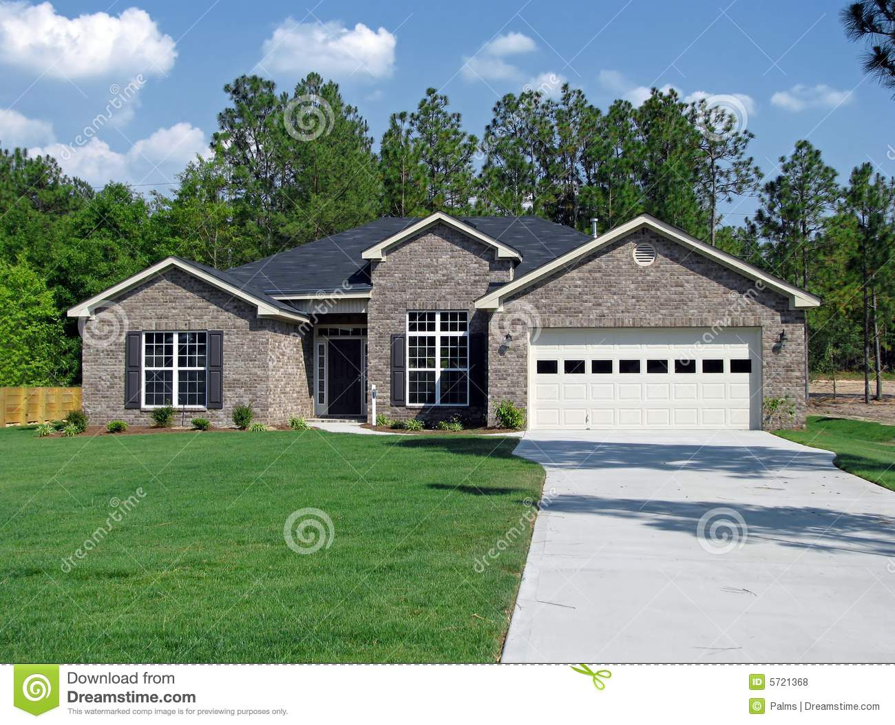 New house built in brick royalty free stock photos image for New brick homes