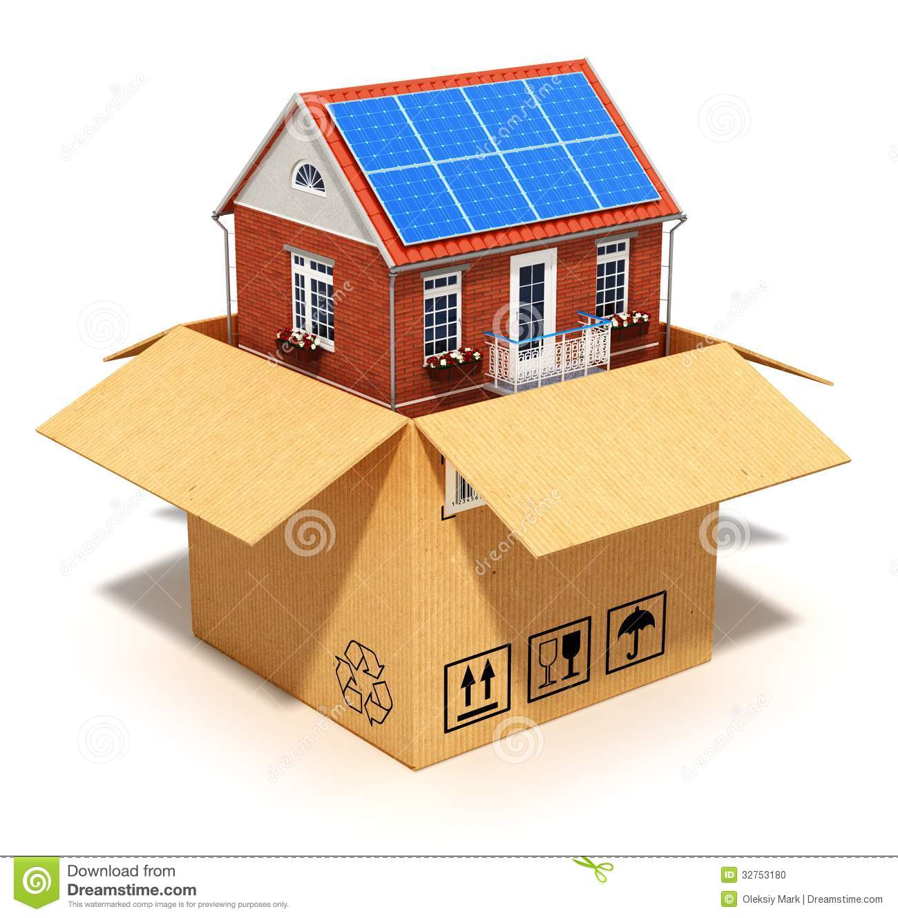 New house in cardboard box stock illustration image of for How to make a house from cardboard box