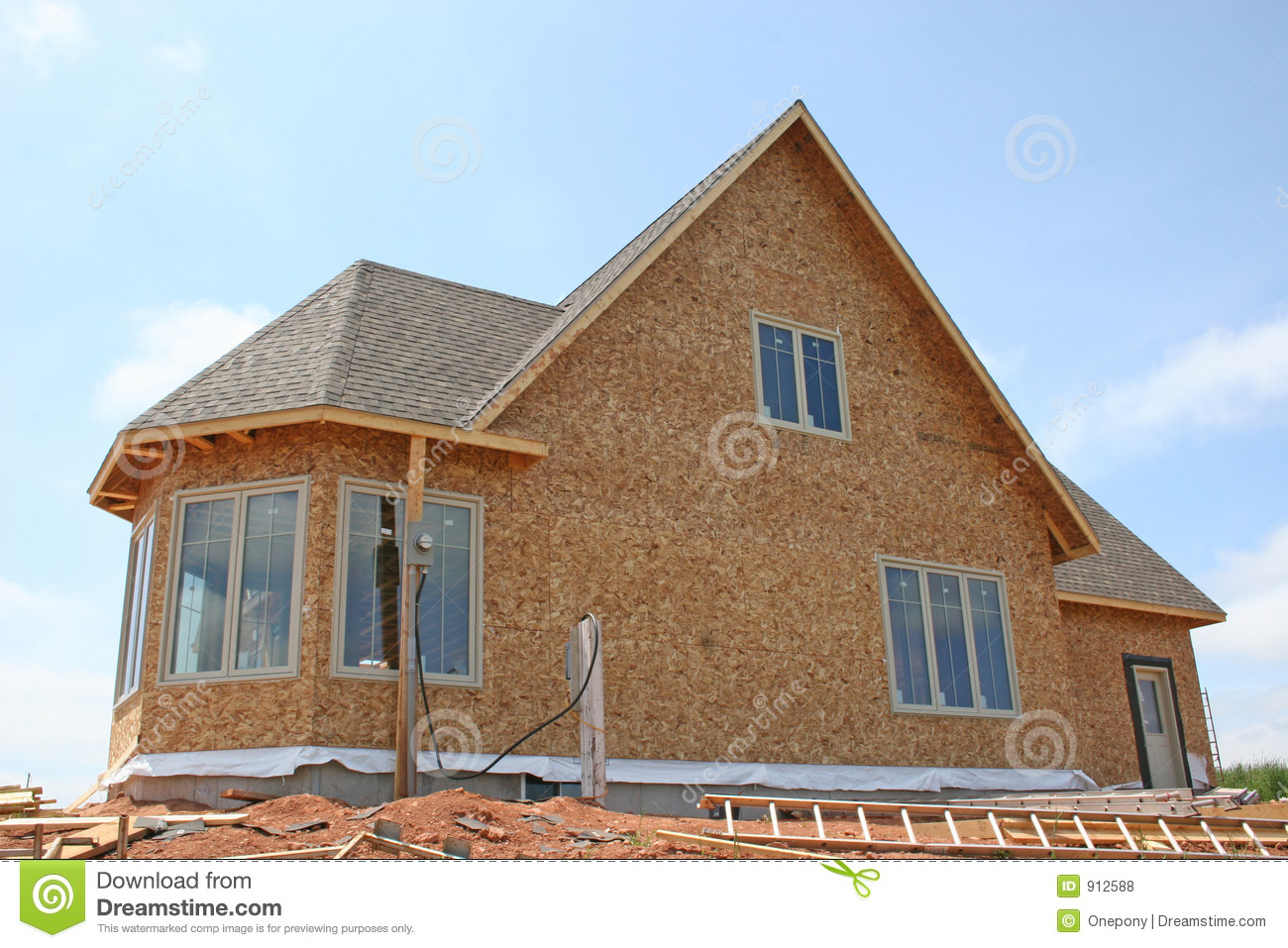 New House Construction 1 Royalty Free Stock Photos Image