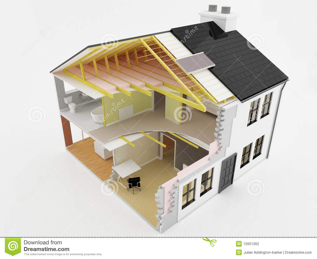 New house construction stock photography image 12051262 for New home structure