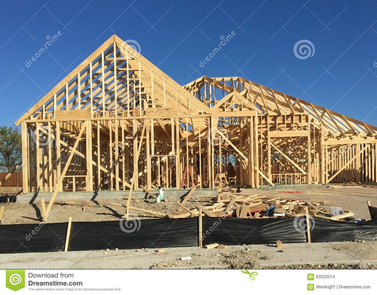 New house construction building stock photo image 63233514 for House building contractors