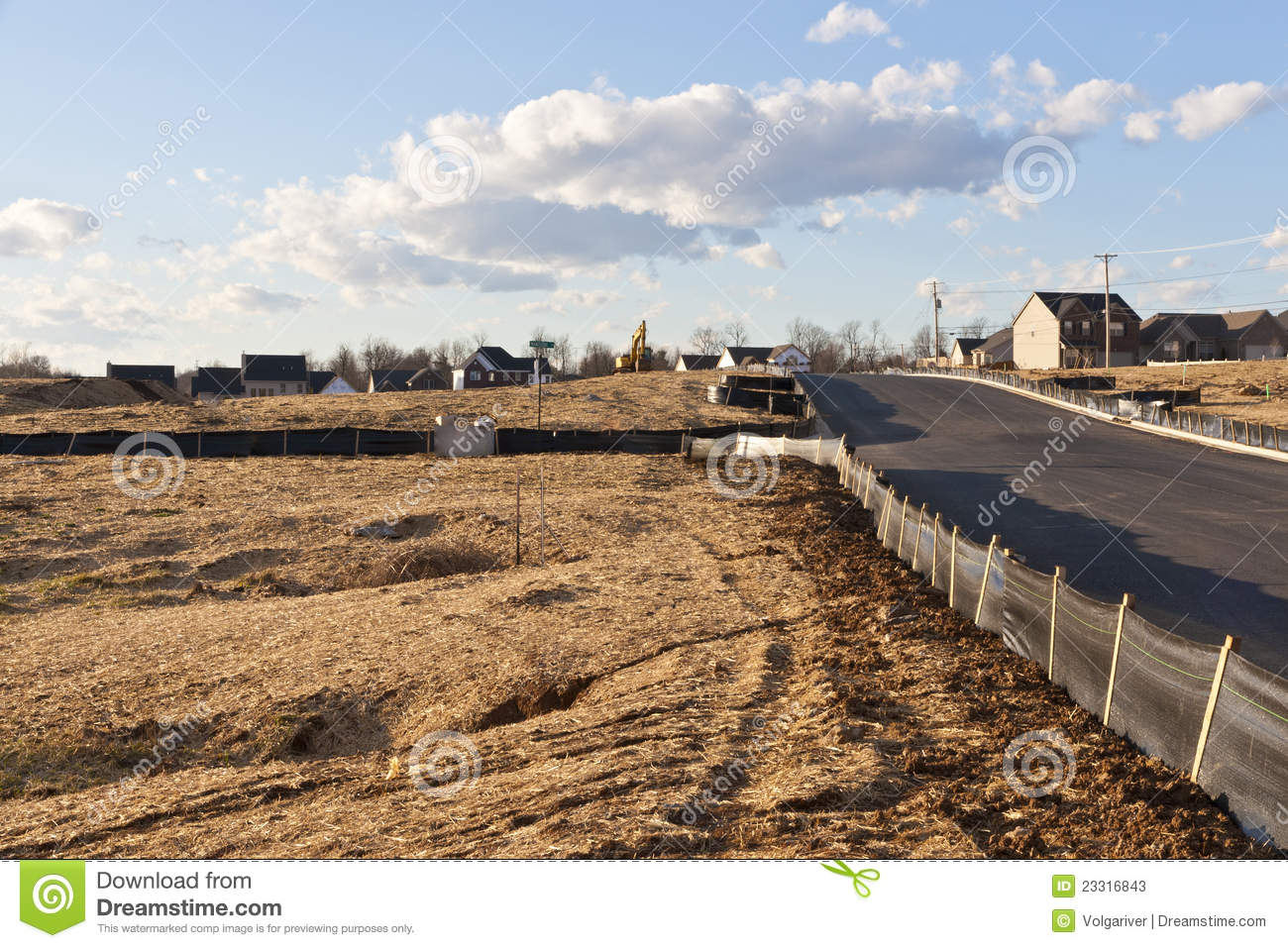 New House Construction Site Stock Image Image 23316843