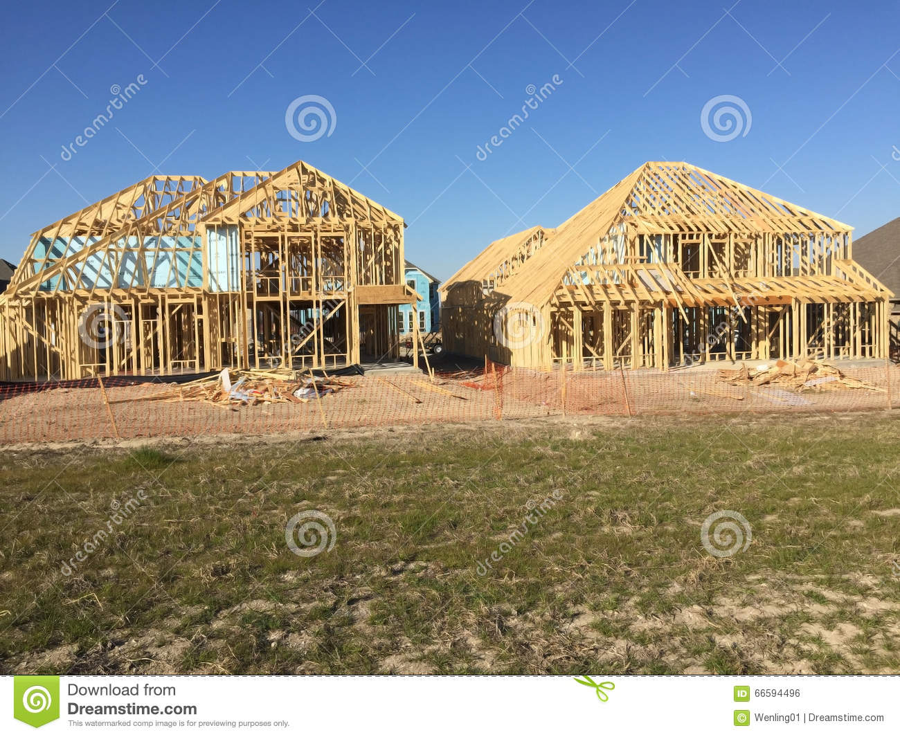 New house construction sites in community editorial photo for Home building websites