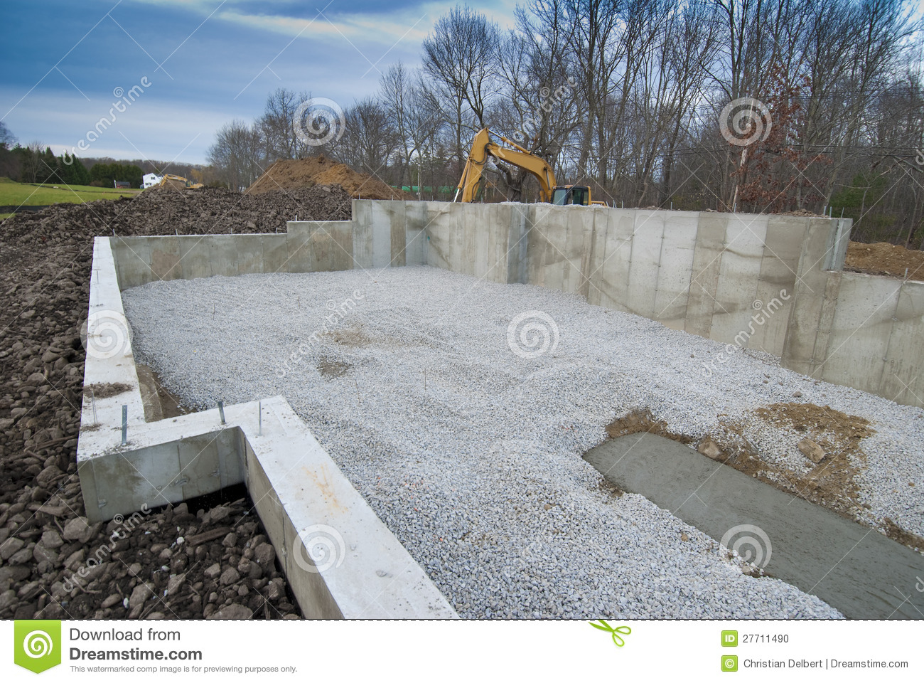 new house foundation stock photo image 27711490