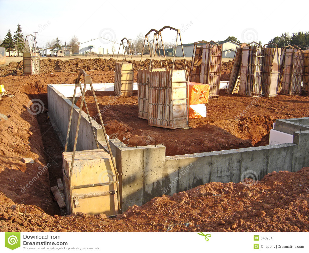 new house foundation stock images image 640954