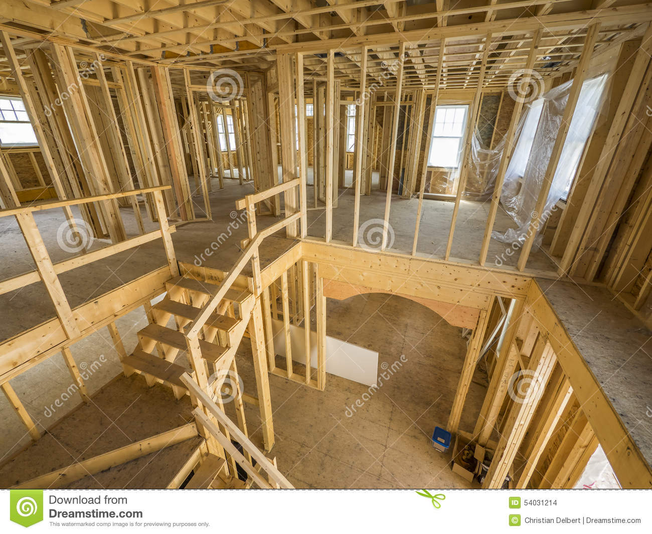 New house interior construction stock photo image 54031214 for New house interior